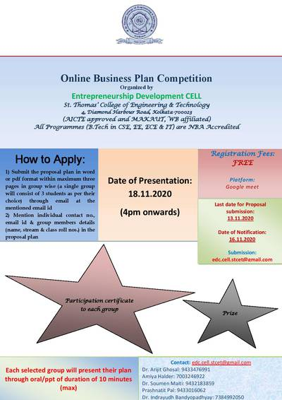 Online Business Plan Competition